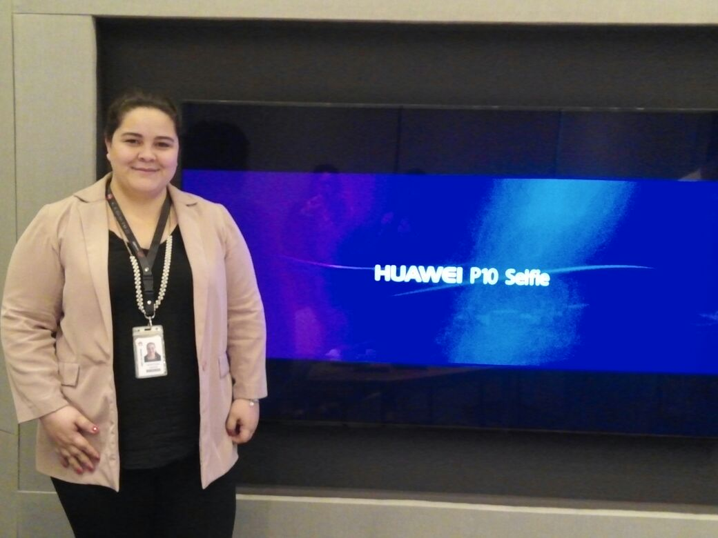 Foto: Jazmín Acuña, gerente de marketing de Huawei.